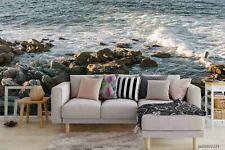 New Listing3D Sea Stone Landscape Wallpaper Wall Murals Removable Wallpaper
