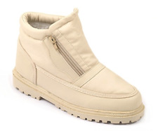 Thermo-Tex Womens UK 5 EU 38 Beige Jack Eskimo Front Twin Zip Winter Ankle Boots