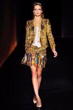 Roberto Cavalli Catwalk  gold sequin skirt Size Uk 10 IT42 RRP EUR 5,585.00!!