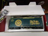 LGB 46675 BIG TRAIN OPERATOR WOODSIDE BOXCAR  G SCALE PRE OWNED,