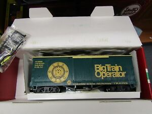 LGB 46675 BIG TRAIN OPERATOR WOODSIDE BOXCAR  G SCALE PRE OWNED,