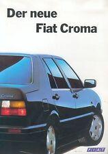FIAT CROMA prospetto 2/91 4 pag. Sales Brochure 1991 auto PKW opuscolo Italia