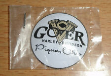 GOVER HARLEY-DAVIDSON Medallion - NEW - Piqua, Ohio (No Longer in Bussiness)
