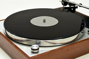 Gloss Black & Mirror Acrylic Turntable Platter Mat. Fits THORENS Record Player