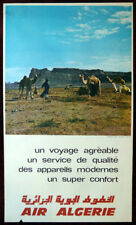 Original Poster Algeria Air Algerie Ahaggar Hoggar Sahara Camel Africa Travel
