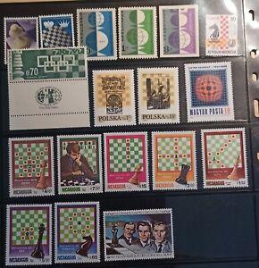 DE Schach chess Sammlung 41 Werte postfrisch xx