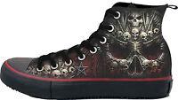 DEATH BONES Sneakers - Men's High Top Laceup Cross/Skeleton/Skulls/Metal/Biker