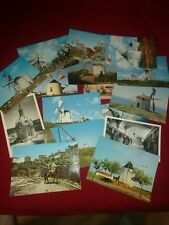 Vintage 1970s Portugal postcard lot of 16 windmills palace Culture unposted