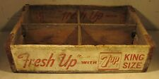 Vintage 1964 Fresh Up With 7-Up King Size Wooden Soda Crate USA Box