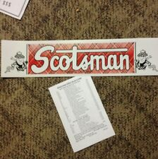 Scotsman Travel Trailer Decal Gardena, Calif Red Green Blk & White vintage style