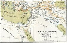 Syria Mesopotamia Parthians Emp. 1886 Antique map/print
