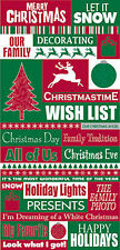 Reminisce CHRISTMASTIME QUOTES GLITTER Stickers scrapbooking