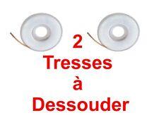 2 Tresses à Dessouder Longueur 1,50 Mêtre Largeur 2 MM Chacune