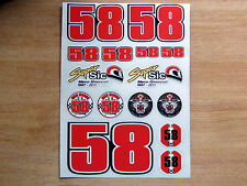 Marco Simoncelli sticker kit 4 - RIP Super Sic 58