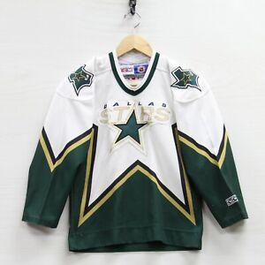 Vintage Dallas Stars CCM Maska Jersey Youth Size S/M White NHL Stitched