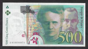 500 Francs Pierre et Marie CURIE 1994 sans STRAP en Neuf - Fayette 76quarto1