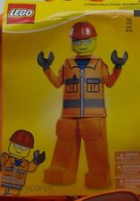 Halloween Lego Orange Construction Worker Boys Costume Size Small 4-6 NWT