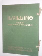 Cavazzoni A. IL VILLINO Bestetti & Tumminelli s.d. (inizio '900) 30 tav. a col.