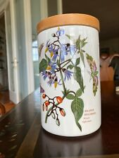 """Portmeirion Botanic Garden Woody Nightshade Canister 6-3/4"""" Tall, Air Tight Lid"""