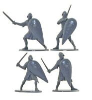 CALL TO ARMS Medieval Norman Foot Knights Infantry 16 Soldiers 1/32 Scale Set 36