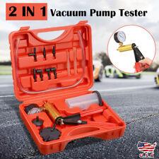 Hand-Held Vacuum Pump Brake Fluid Bleeder Tester Bleeding Kit Adapters For Autos