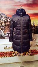 ELISABETTA FRANCHI  Mantel Damen schwarz Echte Daunen Steppmantel Nieten GR.S-36