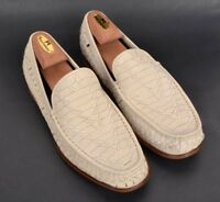 COLE HAAN Ivory White Woven Leather Loafer Dress Shoes NEW IN BOX - 10.5 M
