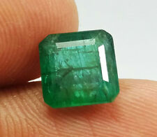 2.90 Ct Natural Square Cut Top Rich Green Zambia Emerald Top Quality Earth Mine