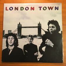 "WINGS (McCartney) - LONDON TOWN 12"" VINYL LP RECORD w/inserts & huge poster 1978"