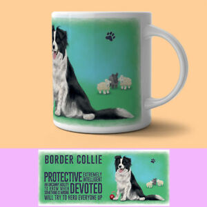 Border Collie Mug Descriptive Dog Gift/Present Sheepdog