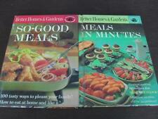 Lot 2 Better Homes & Gardens MEALS IN MINUTES & SO-GOOD MEALS Cookbooks 1963