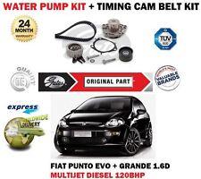 Per FIAT PUNTO EVO + GRANDE 1.6D Multifiamme 2008 > POMPA ACQUA + KIT TIMING cam belt