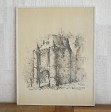 Château de Trazegnies (détail) lithographie signée Ben Genaux (numéro 146/400)