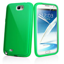 Green Premium Soft Silicone Rubber Case Cover for Samsung N7100 Galaxy Note II