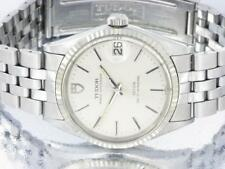 Tudor Prince Oysterdate  Rotor Mens Automatic Stainless Steel Watch Rolex Design