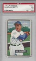 1951 Bowman baseball card #247 Bob Ramazotti, Chicago Cubs graded PSA 5 EX