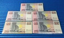 Singapore Ship Series $2 Note KR000006-000010 Golden Number Dollar Note Currency