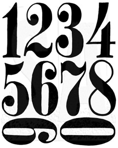 Tim Holtz Numeric Rubber Stamp Set Stampers Anonymous CMS161