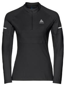 ODLO Womens Mid Layer 1/2 Zip Omnius Warm Pullover Black Sz Large 38'-40' RRP£50