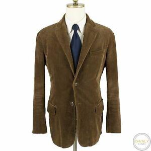 Polo Ralph Lauren Brown Cotton Corduroy Rib Velvet Vented 3/2 Roll Jacket M