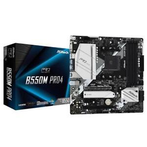 Asrock B550M PRO4 AMD B550 AM4 Micro-ATX DDR4 VGA HDMI DP Motherboard