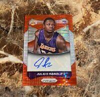 2014-15 Panini Prizm Julius Randle Red Pulsar RC Auto /99 Rookie Autograph #78