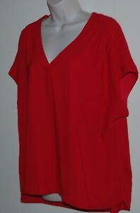 Preview women's plus size red top Size 18