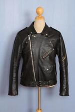 Vtg 60s BELSTAFF Belted Leather Motorcycle Biker Jacket Size 40/42