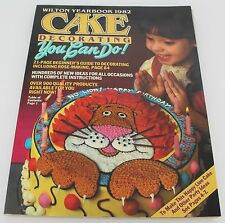 Vintage Wilton Yearbook 1982 Cake Decorating You can do! Great condition