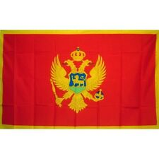 Montenegro Country flag Banner Sign 3' x 5 Foot Polyester With Grommets