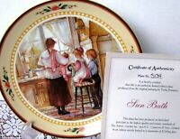 Trisha Romance Sun Bath Plate With COA, c.2004 Ltd Edition Collector Plate #5134