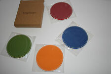 Longaberger Sunny Day Coaster Set of 4 Brand New in Box