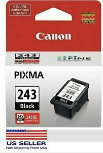 Canon PG-243 Black Ink Cartridge, Genuine, New-in-Box