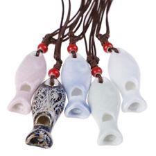 Ceramic whistle necklaces Pendants DIY handmade necklace for children toy gPL